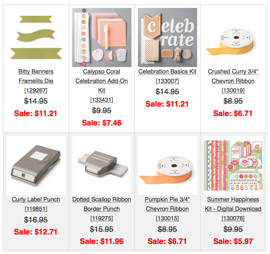 New Weekly Deals – Save on Stampin' Up! Product