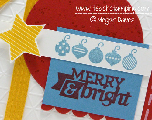 Christmas Card Idea – Christmas Bliss From Stampin' Up!
