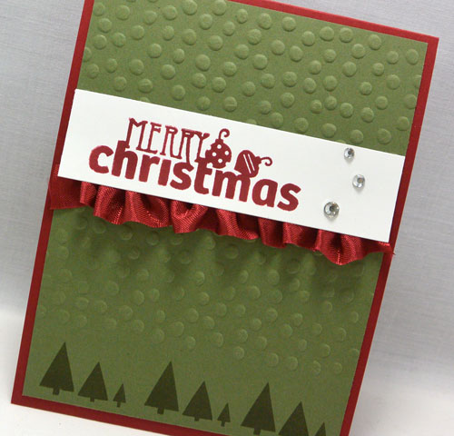 Card Making Video Tutorial – Using Christmas Bliss From Stampin' Up!