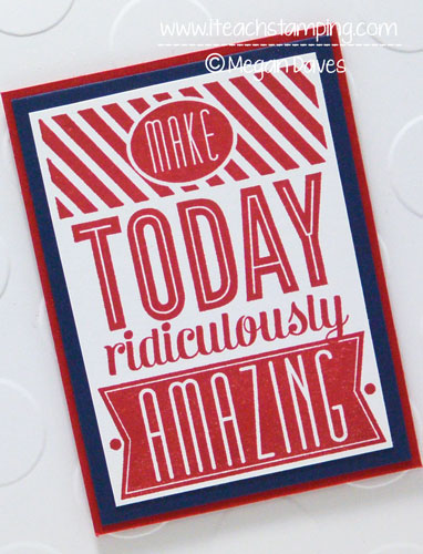 All Occasion Hand Made Card Idea Using Stampin' Up's Amazing Birthday
