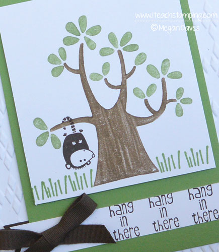 How to Make a Hand Made Card to Cheer Up a Friend {Nuts About You – Stampin' Up!}