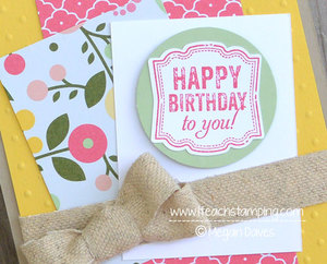 Hand Made Birthday Card Idea – Stampin' Up!'s Label Love
