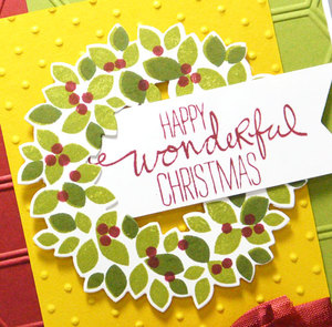 Paper Crafts Idea Using Wondrous Wreath From Stampin' Up!