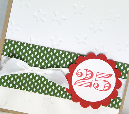Friday Flip:  Making a Simple Christmas Card