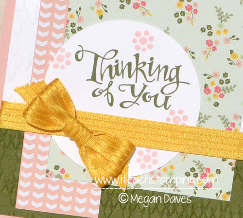 Paper Crafts Idea:  Handmade Thinking of You Card