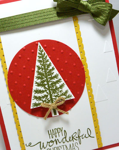 Stampin' Up!'s Wondrous Wreath & Festival Of Trees – Paper Crafts Idea