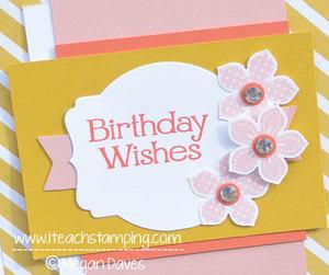 DIY Card Making:  Making a Birthday Card Using Stampin' Up! Supplies