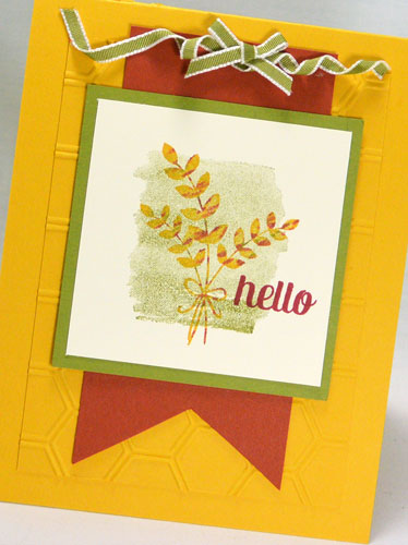 Friday Flip:  Using For All Things from Stampin' Up! – Fall Card Idea