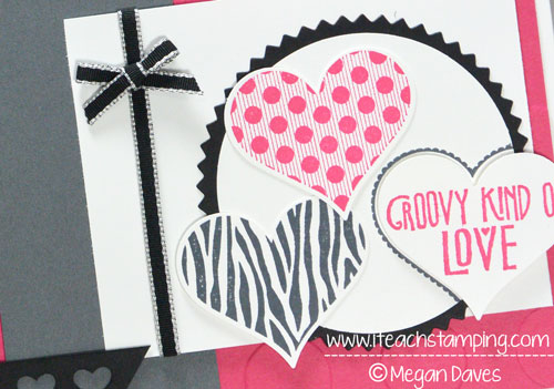 Using Stampin' Up's Groovy Love to Make a Handmade Card
