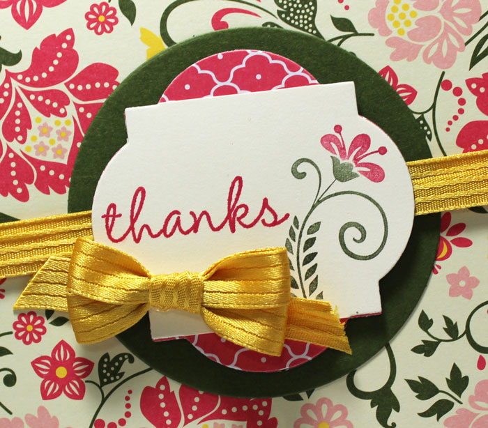 Friday Flip Using Framelits and Patterned Paper to Make a Card – Video Tutorial