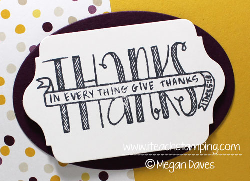 Banner Blessings to Make a Thank You Card (set from Stampin' Up!)