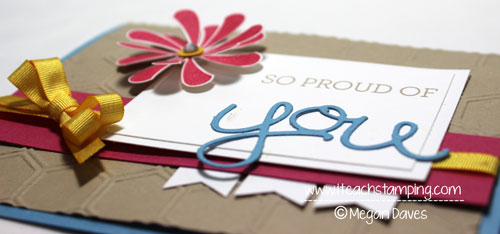 Friday Flip:  How to Make a Handmade Card using Crazy About You Bundle