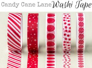 candy cane lane washi