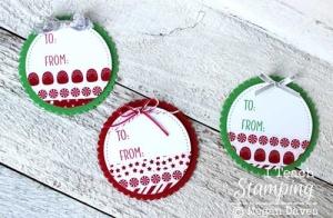 Christmas Washi Tape Tags