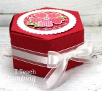 Cute Paper Box Handmade Using Stampin