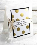 Glamorous Black and Gold Greeting Cards
