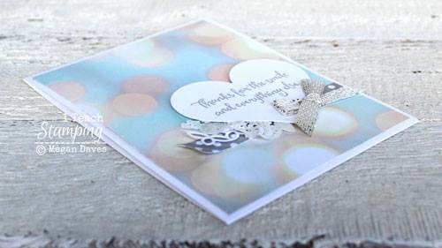 Bokeh Background Paper Makes Gorgeous Cards