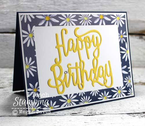 A Simple Paper Frame Makes This Card!