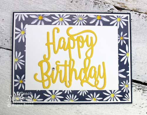 Add a Simple Paper Frame to a Card