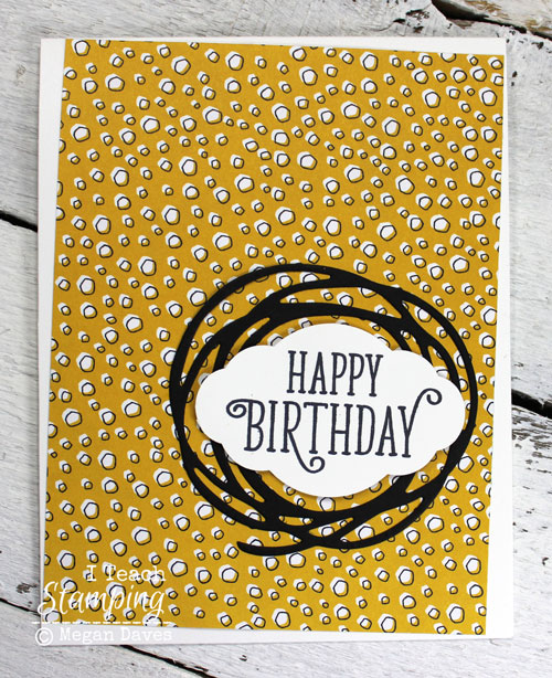 Clean and simple birthday card idea