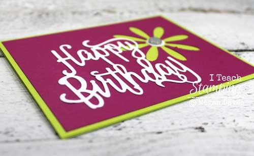 Cute card using the Stampin' Up! Daisy Paper Punch