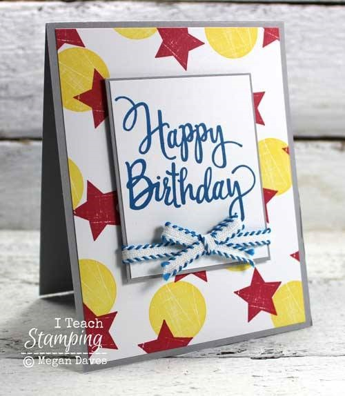 How to Make Fancy Background Paper Using Stamps