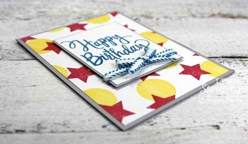 Just LOOK at This Card Using Hand Stamped Fancy Background Paper