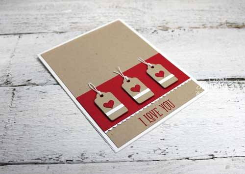 How to make I love you cards with fun die cuts and punches