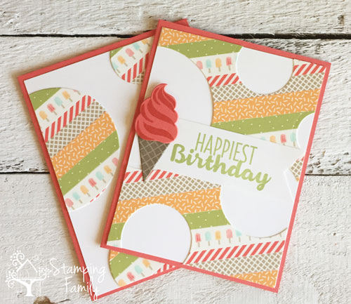 Make Two Cute Washi Tape Cards With One Panel!