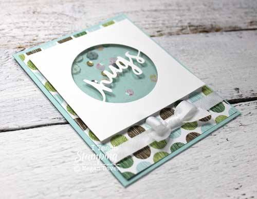 Click through for a free video on how to make a shaker card