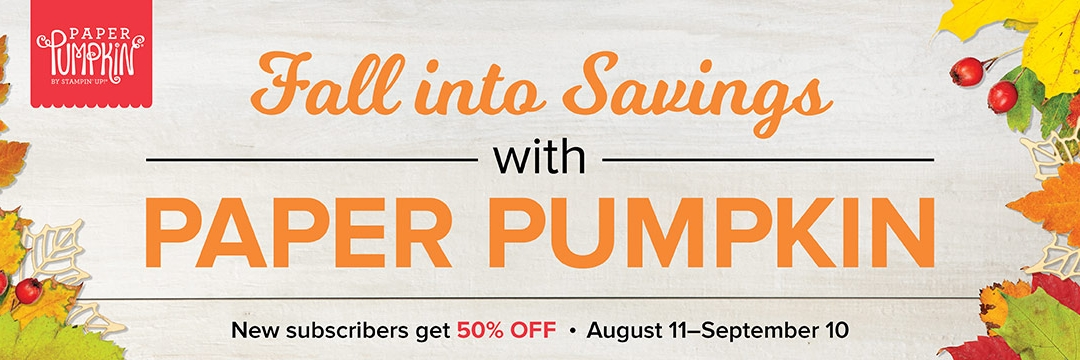 Get a 50% Discount On Paper Pumpkin!