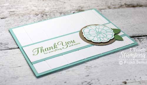 Easily add a TON of texture with a stampin up dynamic embossing folder