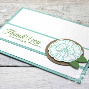 Gorgeous texture from a stampin up dynamic embossing folder