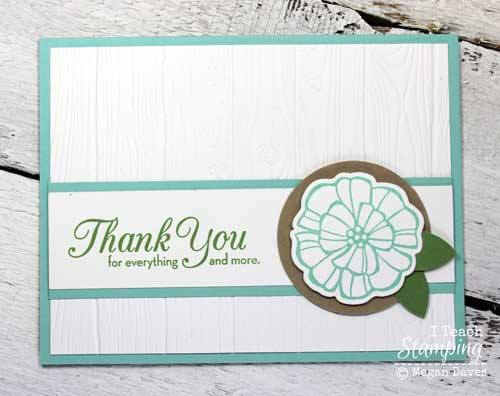 Just look what a stampin up dynamic embossing folder can do for your project