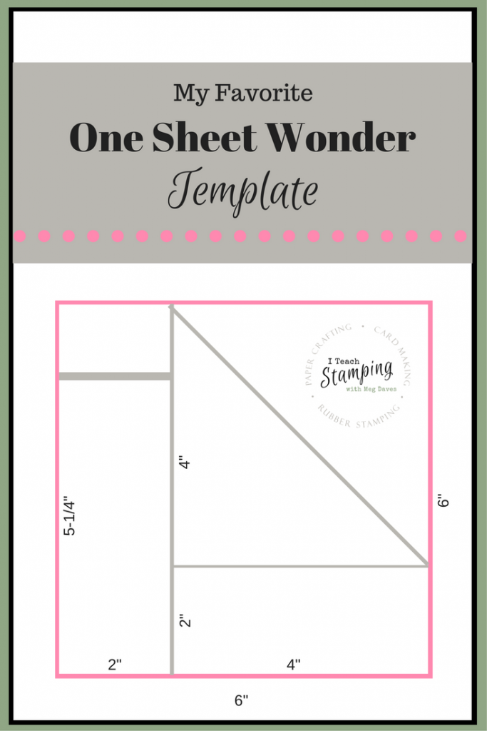 One Sheet Wonder Template
