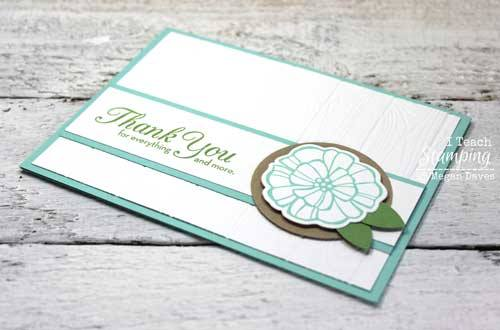 So much fabulous texture from one stampin up dynamic embossing folder