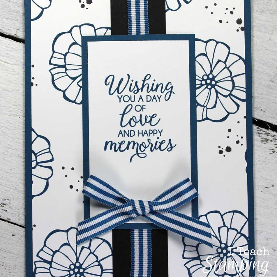 Blue Monochromatic Color Scheme using a monochromatic color scheme on a card | i teach stamping