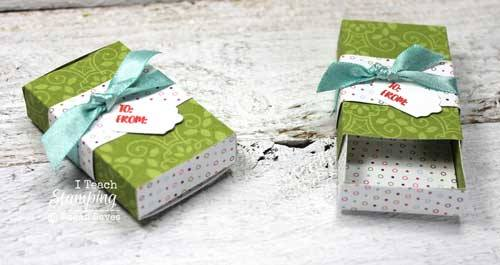 Use this free matchbox template to make cute little giftables