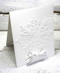 Make Some White on White Christmas Cards!