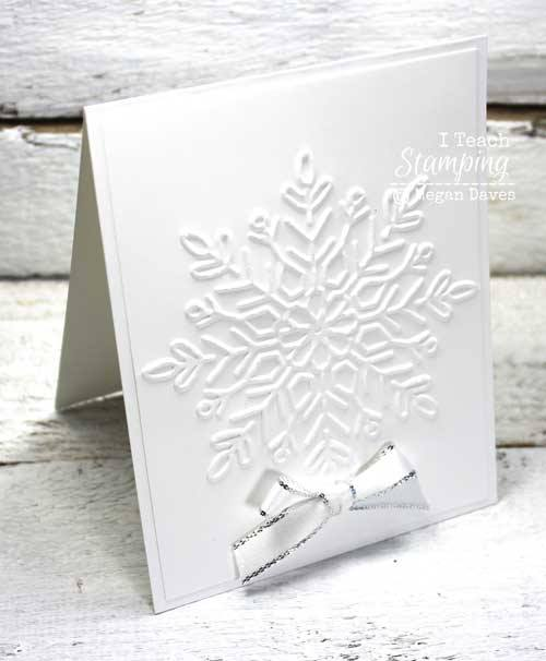 Gorgeous and easy white on white christmas cards
