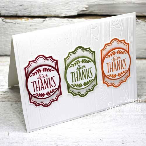 How to make a thank you card using one stamp