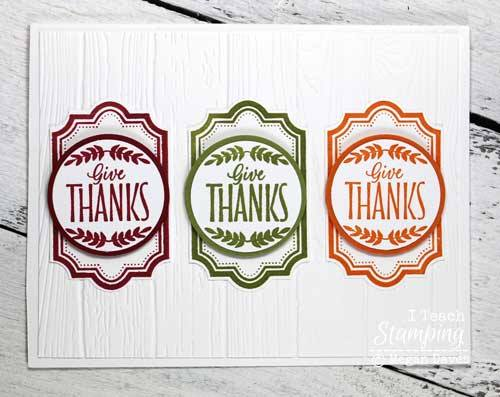 Learn how to make a thank you card with one stamp