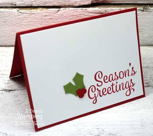 Make Christmas Preparation easy with this easy to make card
