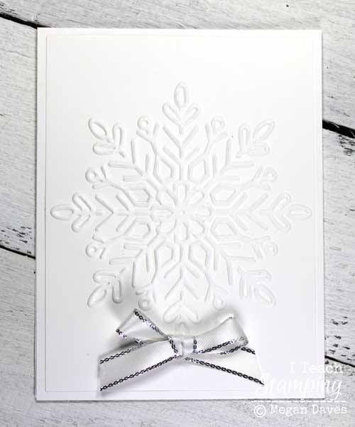 Make a big batch of snowflake white on white Christmas cards