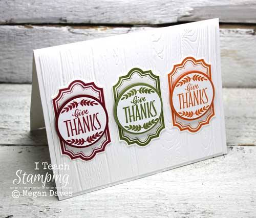 Make a thank you card using one stamp