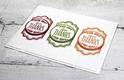 Make a thank you card with just one stamp