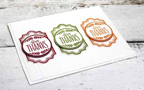 Make a thank you card with one stamp and three colors of ink