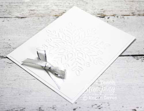 Make some white on white christmas cards with a snowflake theme