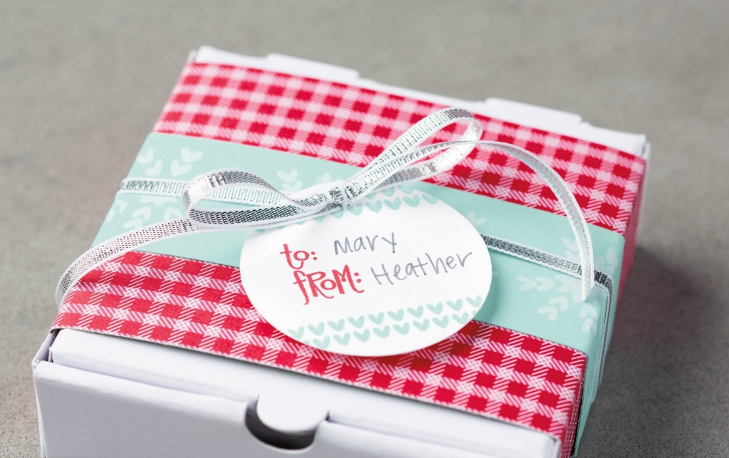 Stampin' Up! mini pizza boxes for friends