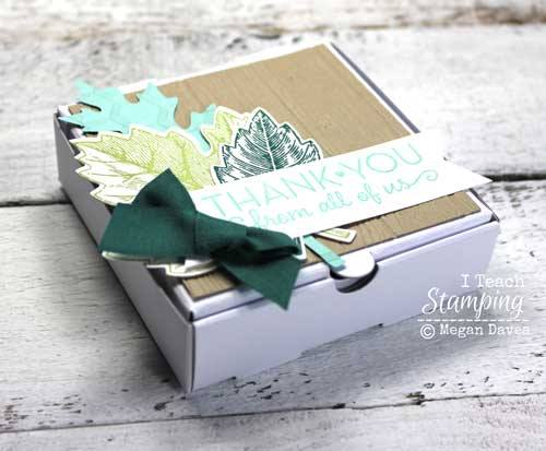 Stampin' Up! mini pizza boxes for fall gifting